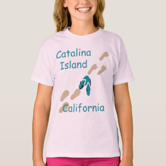 Catalina Island California Flip Flops Girls T T-Shirt