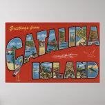 Catalina Island, California - Large Letter Scene Posters