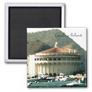 Catalina Island Casino 2 Inch Square Magnet