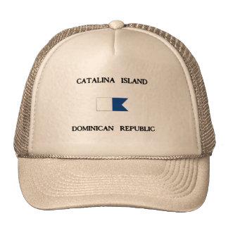 Catalina Island Dominican Republic Alpha Dive Flag Trucker Hat