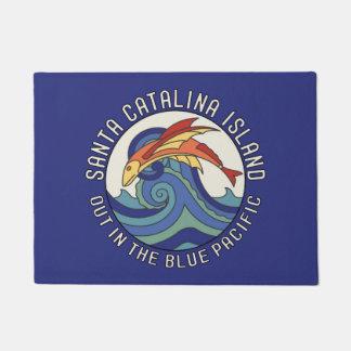 Catalina Island Flying Fish Door Mat