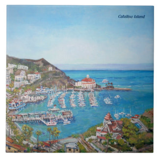 "Catalina Island Large (6"" X 6"") Ceramic Photo Tile"