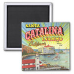 Catalina Island magnet 2 Inch Square Magnet
