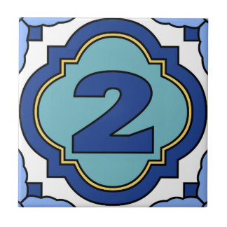 Catalina Island Number Address Tile 2
