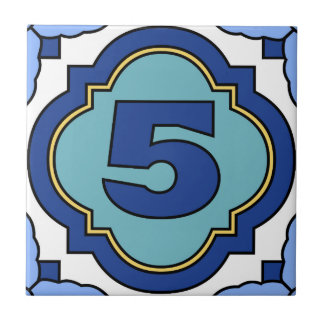 Catalina Island Number Address Tile 5