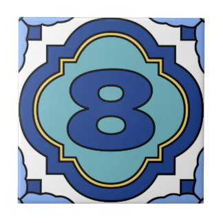 Catalina Island Number Address Tile 8