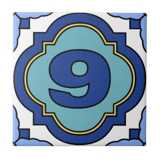 Catalina Island Number Address Tile 9
