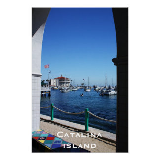 Catalina Island Through The Window Poster