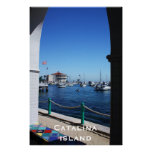 Catalina Island Through The Window Posters