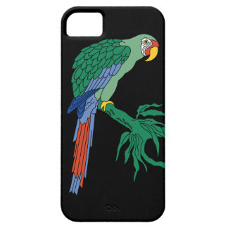 Catalina Island Tile - Green Macaw iPhone 5 case
