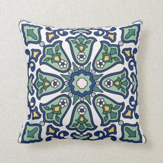 Catalina Island Tile Vintage 1920s Design Pillow