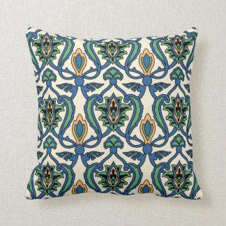Catalina Island Tile Vintage 1920s Design Throw Pillow