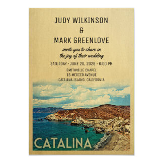 Catalina island invitations announcements zazzle catalina island wedding invitation vintage stopboris Choice Image