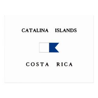 Catalina Islands Costa Rica Alpha Dive Flag Postcard