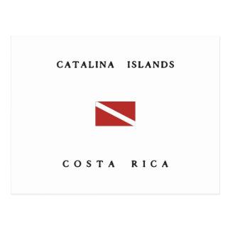 Catalina Islands Costa Rica Scuba Dive Flag Postcard