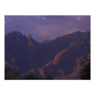 Catalina Mountains Sunset Posters