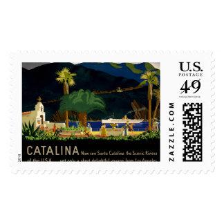 Catalina por Otis Shepard, C. 1935. Estampilla