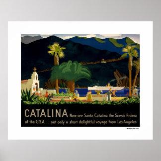 Catalina por Otis Shepard, C. 1935. Poster Póster