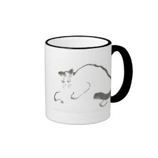 Catalizador - gato de Sumi-e Taza De Dos Colores