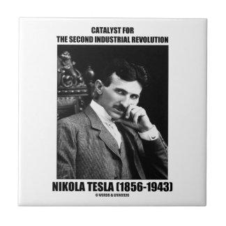 Catalizador para la segunda Revolución industrial Azulejo Cuadrado Pequeño