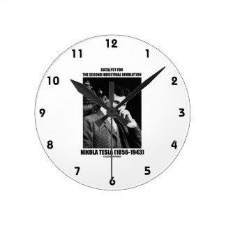 Catalizador para la segunda Revolución industrial Reloj Redondo Mediano