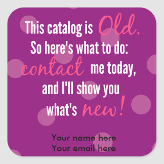 Catalog change label stickers