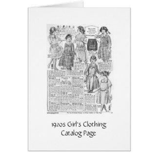 Catálogo de la ropa del chica tarjeta de felicitación