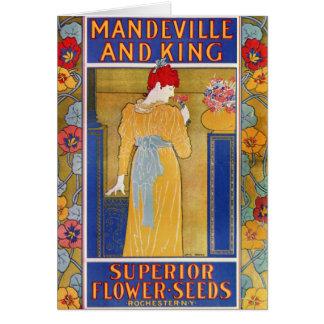 Catálogo de semilla de Mandeville y del rey Tarjeta De Felicitación