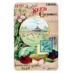 Catálogo de semilla del vintage Des Moines Iman Flexible