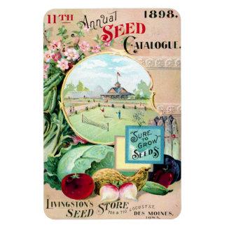 Catálogo de semilla del vintage Des Moines Imanes