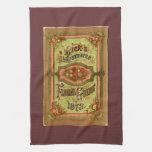 Catálogo de semilla del vintage toalla