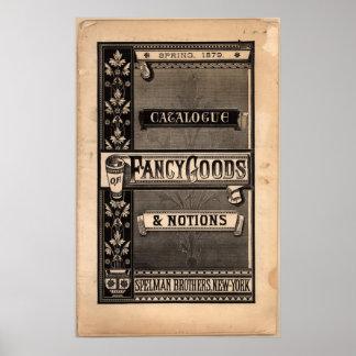 Catálogo del vintage de mercancías de lujo y de no impresiones