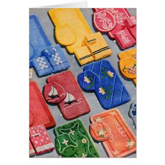 Catálogo determinado del kitsch del vintage del cu tarjeta de felicitación
