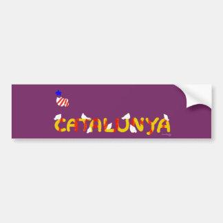 Catalonia Doves peace, Catalunya lletres coloms. Bumper Sticker