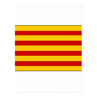 Catalonia Flag Spain Postcard