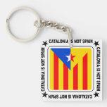 Catalonia independència square acrylic key chains