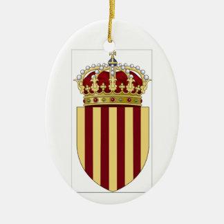 Catalonia (Spain) Coat of Arms Ceramic Ornament