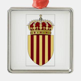 Catalonia (Spain) Coat of Arms Metal Ornament