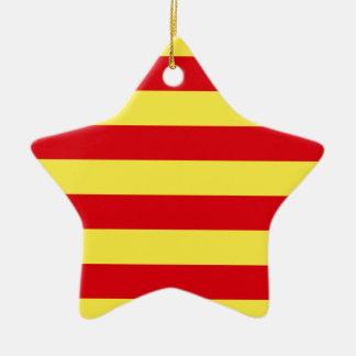 Catalonia (Spain)  Flag Ceramic Ornament