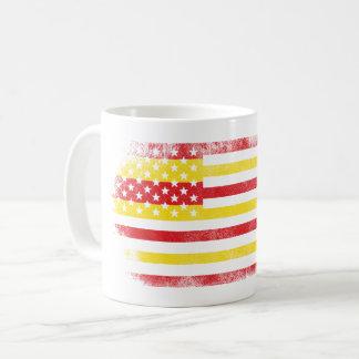 Catalonian American Flag   Catalan and USA Design Coffee Mug