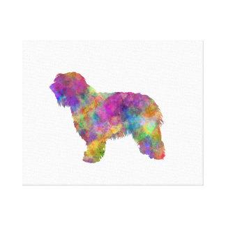 Catalonian sheepdog in watercolor canvas print