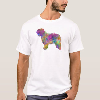 Catalonian sheepdog in watercolor T-Shirt