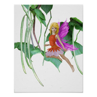 Catalpa Tree Fairy among Seed Pods Poster