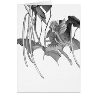 Catalpa Tree Fairy with Seed Pods Card