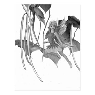 Catalpa Tree Fairy with Seed Pods Postcard