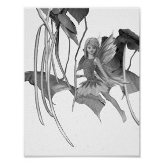 Catalpa Tree Fairy with Seed Pods Poster