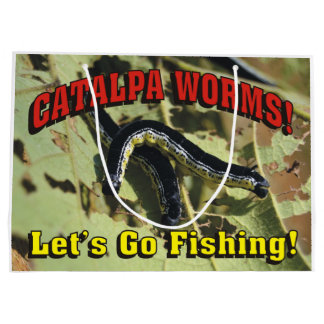 Catalpa Worms! Let's Go Fishing! Large Gift Bag