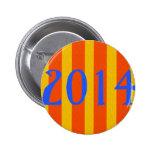 Cataluña 1714-2014, cartell de Catalunya, ilustrac Pins