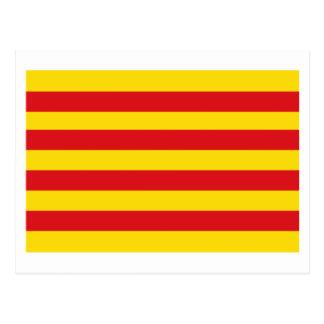 Cataluña flag post card