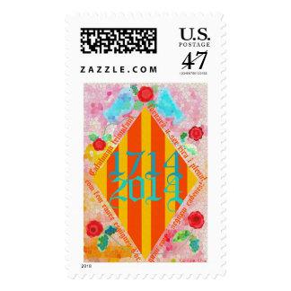 Cataluña patriótica 1714-2014, segells de los timbres postales